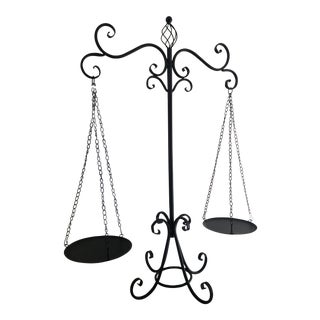 Black Wrought Iron Hanging Scales