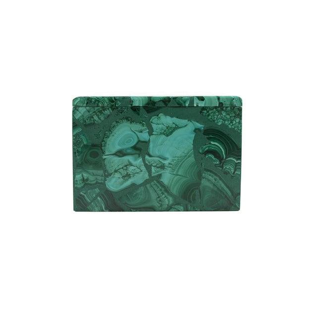 Malachite Antique Lidded Box - Image 8 of 9