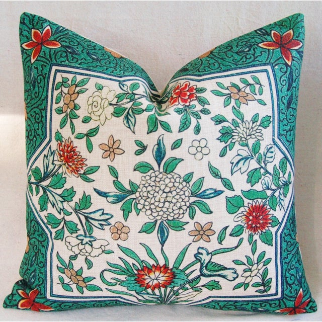 Spring Floral Blossom Feather/Down Linen Pillow - Image 2 of 4