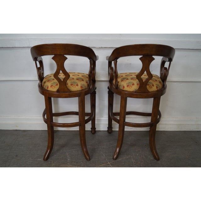 Minton Spidell Empire Style Burgess Barstools - Set of 3 - Image 4 of 10