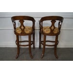 Image of Minton Spidell Empire Style Burgess Barstools - Set of 3