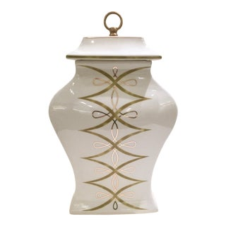 Transitional French Inspired Lidded Vase