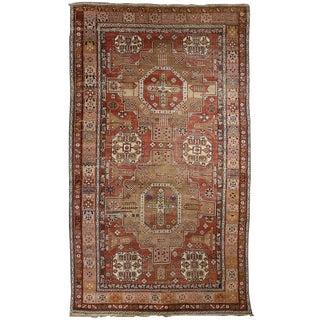 """Antique Caucasian Shirvan Rug 5'4"""" x 9'"""
