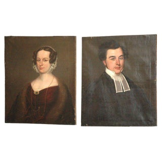 Antique Portraits - A Pair