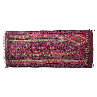 Vintage Moroccan Beni M'Guild Rug - 13' X 6'2''