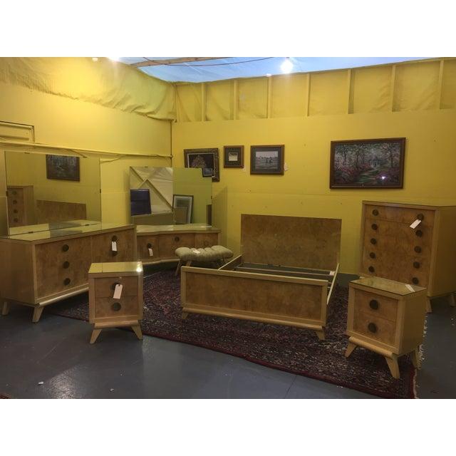 Mid-Century Blonde Nightstands Side Tables - Pair - Image 10 of 11