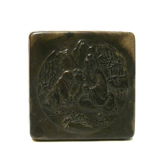 Handmade Metal Bronze Color Trinket Box