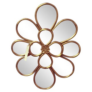 Vintage Gilt Flower Mirror