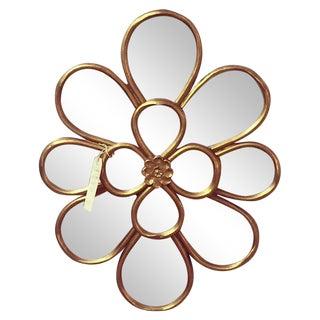 Vintage Gilt Flower Mirror
