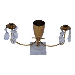 Crystal & Brass Gustavian Style Table Chandelier
