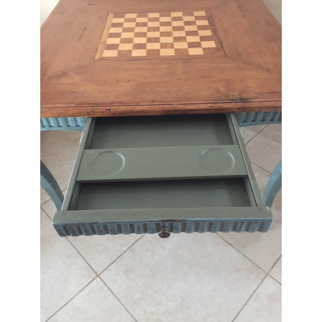 French Country Game Table - Image 6 of 7