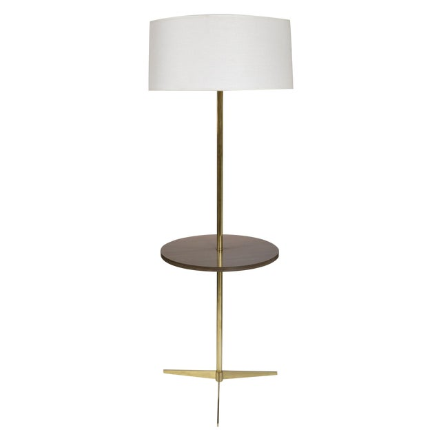 mid century brass formica table floor lamp chairish. Black Bedroom Furniture Sets. Home Design Ideas