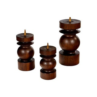 Rosewood Candleholders - Set of 3