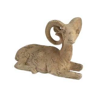 Vintage 1970s Jaru of California Ram Sculpture