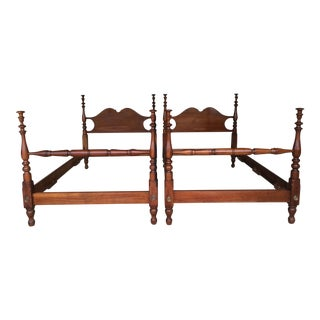 Stickley Cherry ValleyTwin Poster Beds - A Pair