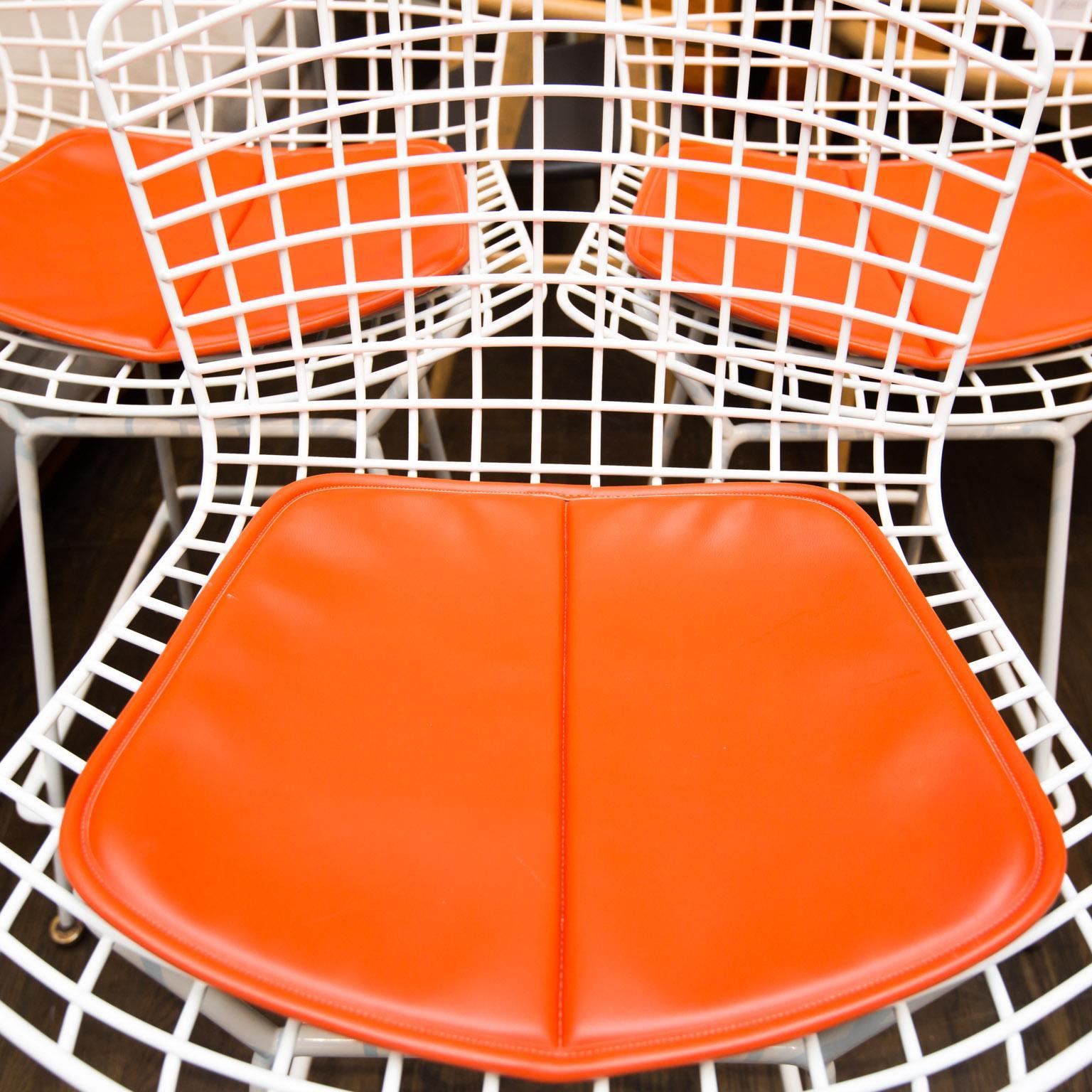 Knoll Bertoia Bar Counter Stools Set Of 3 Chairish