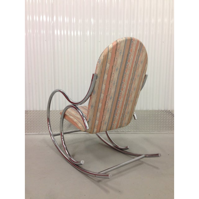 Mid Century Modern Chrome Rocking Chair - Image 6 of 7