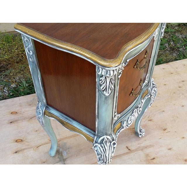 Hand-Painted French Nightstand - Image 6 of 9