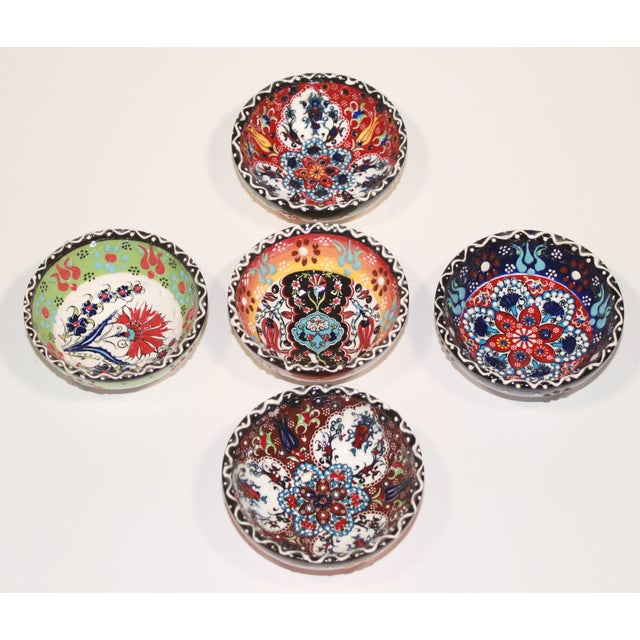 Turkish Tile Bowls - Set of 5 - Image 4 of 6