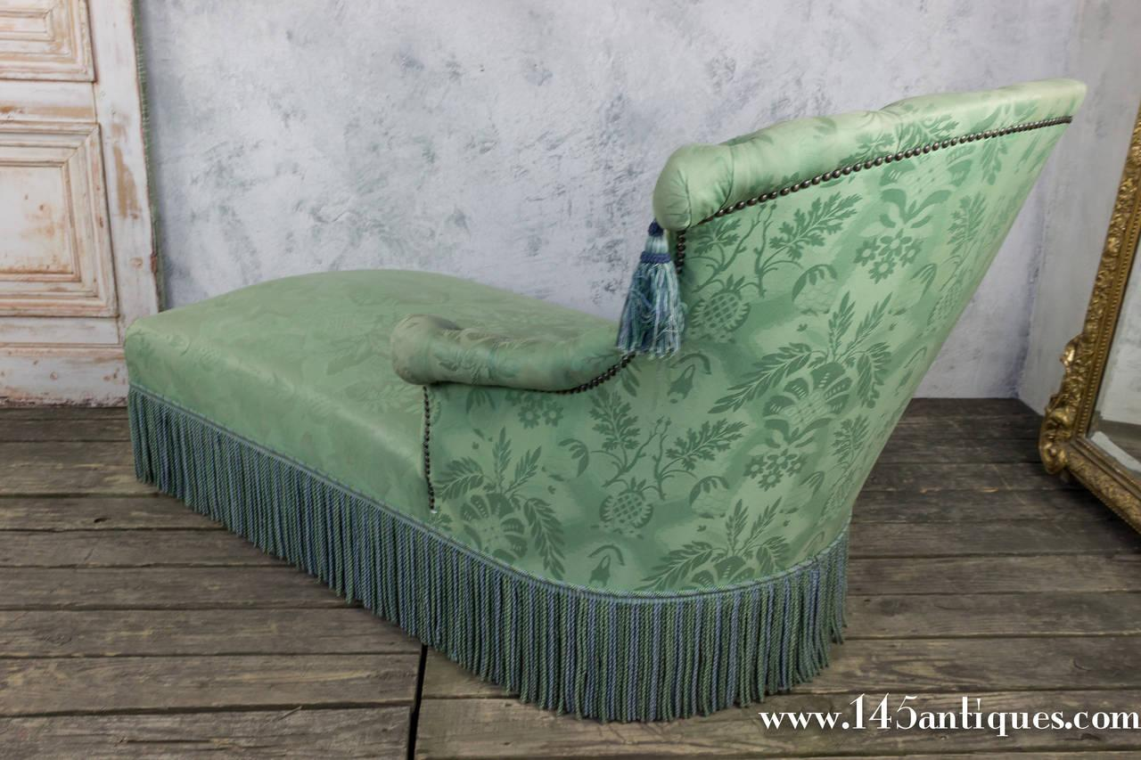 19th C. French Damask Chaise Lounge - Image 3 of 10  sc 1 st  Chairish : damask chaise lounge - Sectionals, Sofas & Couches