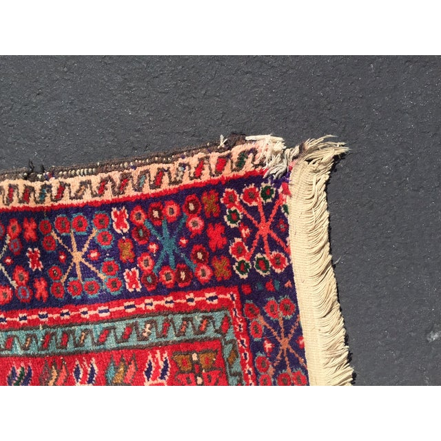 "Vintage Heriz Persian Red Runner - 4'6"" x 12'3"" - Image 9 of 11"