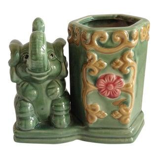 Asian Chinois Elephant Vase or Planter Vessel