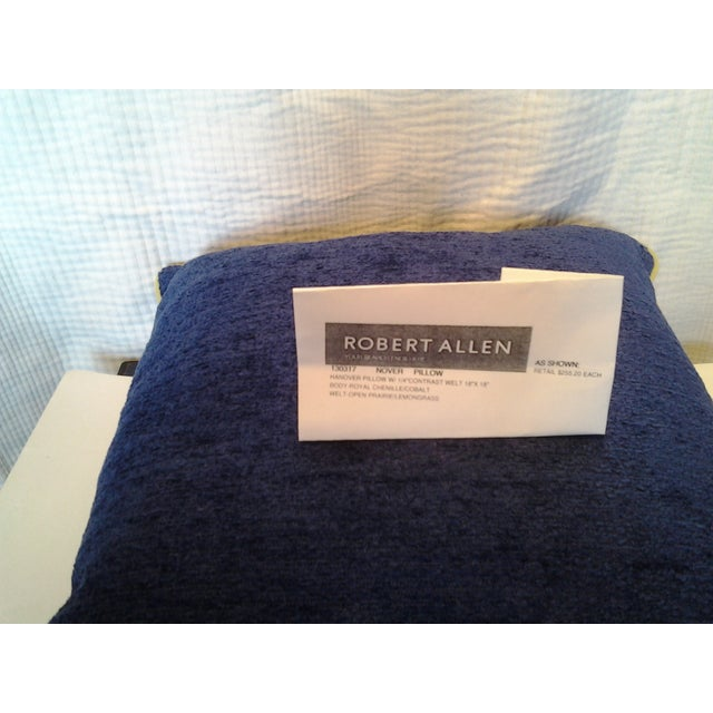 Robert Allen Custom Cobalt Blue Pillow - Image 3 of 4