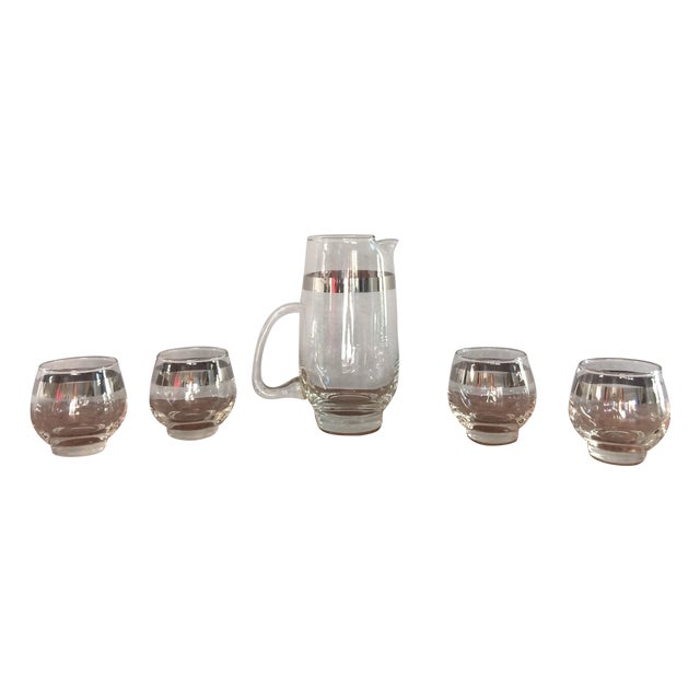 Mid Century Silver Band Liquor - Set of 5 - Image 1 of 7