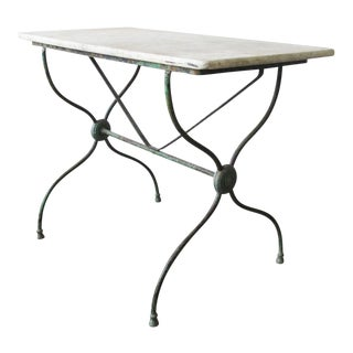 Marble Top Garden Table