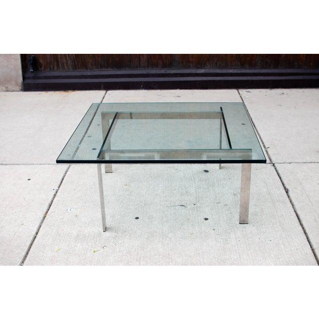 Milo Baughman Chrome & Glass Coffee Table - Image 6 of 6