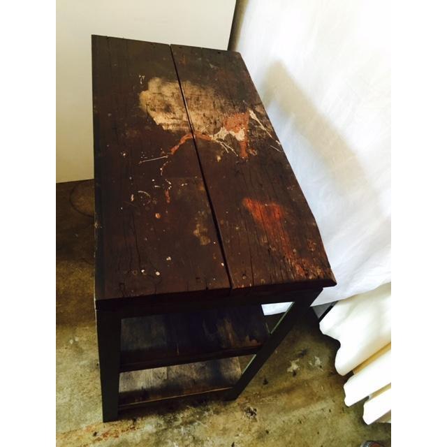Vintage Steel and Wood Industrial Table - Image 3 of 6