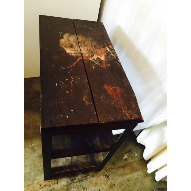 Image of Vintage Steel and Wood Industrial Table