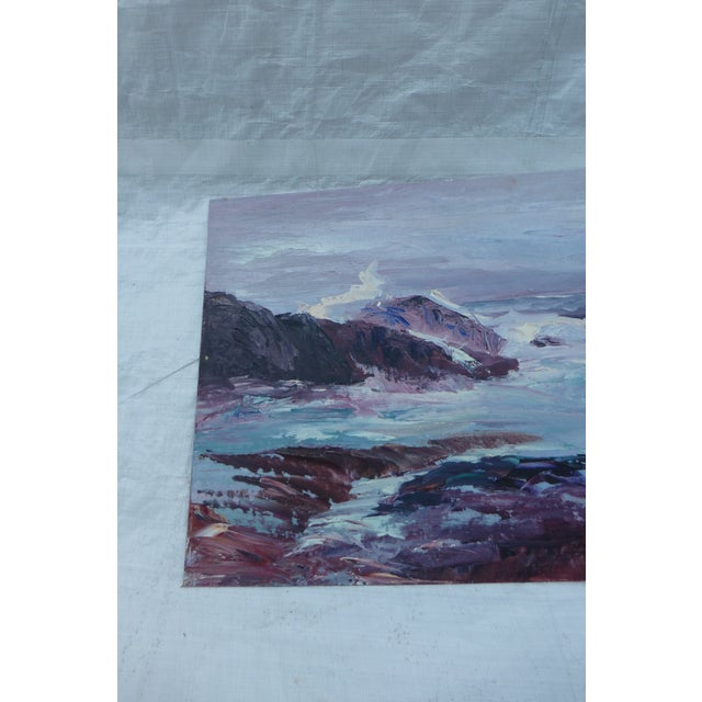 H.L. Musgrave Oil Painting, Turbulent Ocean Scene - Image 4 of 8