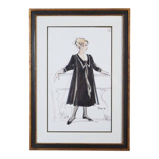Signed Bob Mackie Fashion Drawing #2 for Rosemary Clooney from the Estate of RC
