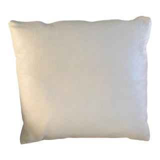 Natuzzi Cream Leather Pillow