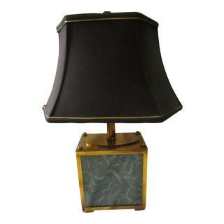 Maitland Smith Malachite Painted Design Table Lamp