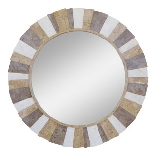 Tessellated Stone Mirror by Oggetti