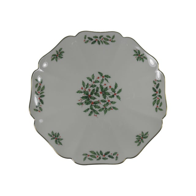 Image of Vintage Holly Print Platter