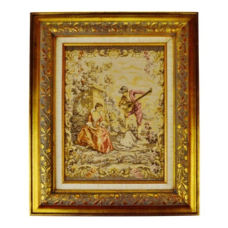 Early Framed French Tapestry