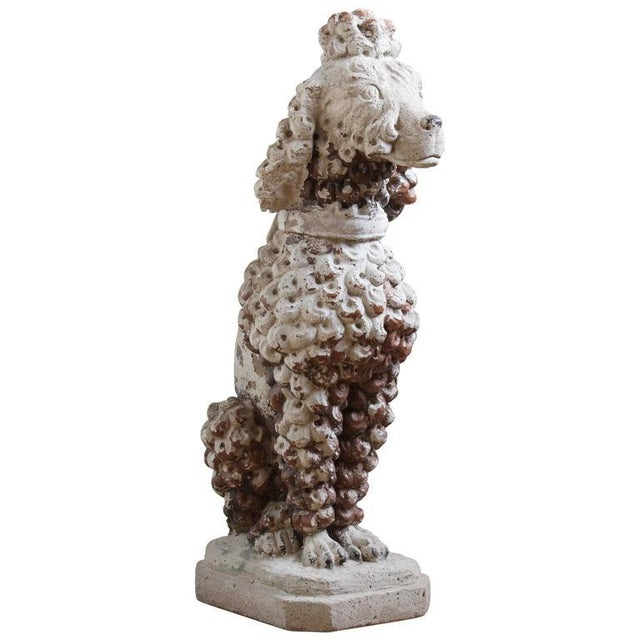 Large Cast Stone French Poodle - Image 9 of 9