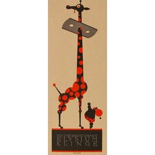 German Art Deco Giraffe Poster