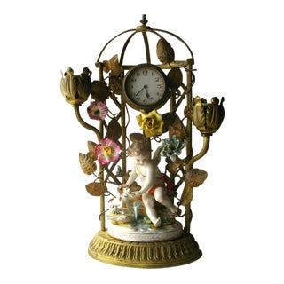 Antique French Boudoir Mantle Clock