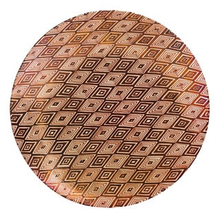 Italian Majolica Rhombus Pattern Copper Glaze Wall Plate