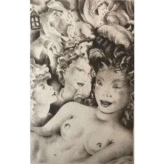 1937 Mariette Lydis Parisian Women Lithograph