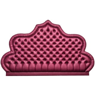 Fuchsia Queen Headboard in Raffia Silk