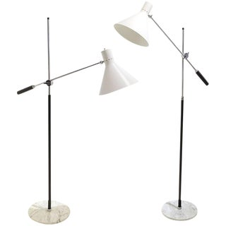Pair of Arredoluce One Arm Floor Lamps