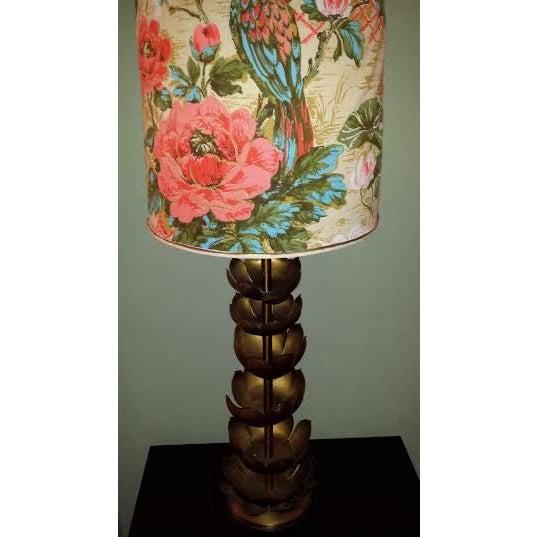 Image of Feldman Style Brass Lotus Lamp