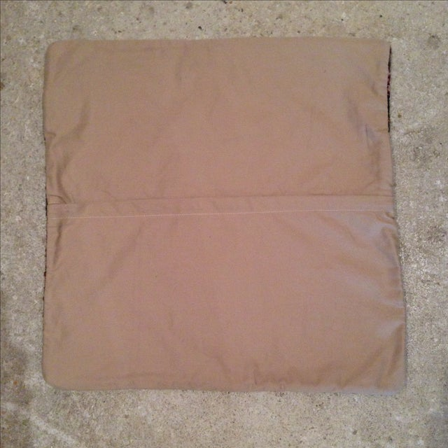 Vintage Brown Kilim Pillow - Image 5 of 5