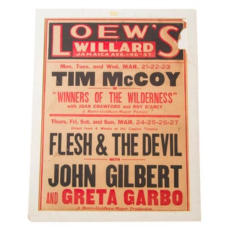 Vintage Greta Garbo Movie Poster