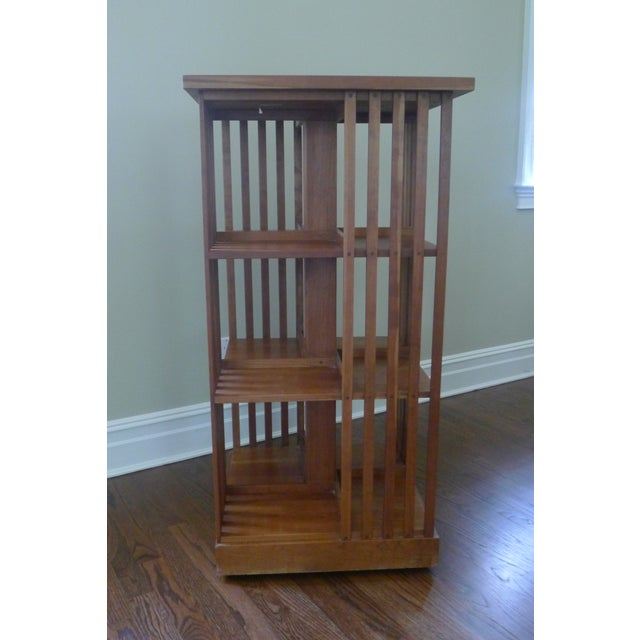 Stickley Mission Cherry Revolving Bookcase - Image 4 of 5